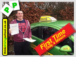 adam shirley passed FIRST TIME with driving instructor in alton ian weir adi