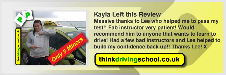 Kayla from Gosport left this review of driving instructor in fareham lee patterson