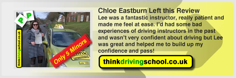 chloe eastburn from fareham left this review of driving instructor in fareham lee patterson