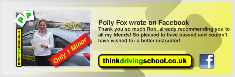 Polly Fox passed with rob evamy from bordon driving school