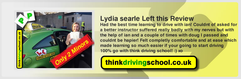 joe booley passed with driving instructor ian weir and lef this awesome review of think driving school