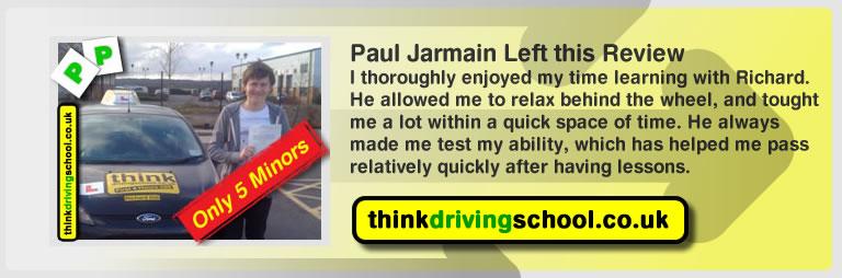 paul jarmain passed with richard young from bordon driving school