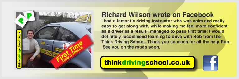 richard wilson passed with rob evamy from bordon driving school