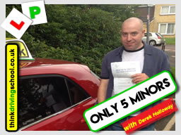passed first time with zero minors driving lessons from Ghulam Chaudry in Camberley