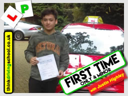 happy learner  left this awesome review after she passed after drivng lessons in farnborough with Justin Highley