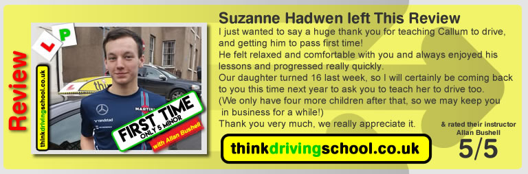 Beth Warden Wrote this awesome review of allan bushell driving instructor from Ludlow