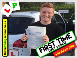 passed in High Wycombe with driving instructor Adam Iliffe January 2018