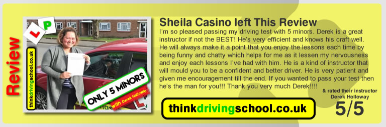 Passed with think driving school in February 2018 and left this review