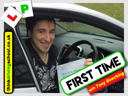 This Happy learner from Bridgnorth passed after driving lessons with Tony Beeching