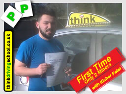 Passed with think driving school in March 2015