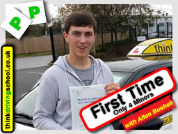 Passed with think driving school in November 2015