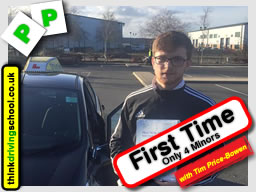 Passed with think driving school in January 2016