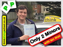 fred passed with ian weir driving instructor in alton