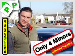 Passed with think driving school in February 2016