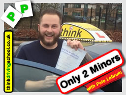 Passed with think driving school in March 2016