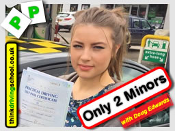 Passed B+E with Doug at think driving school