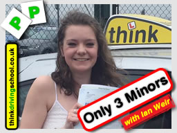 Hannah passed with driving instructor ian weir and lef this awesome review of think driving school