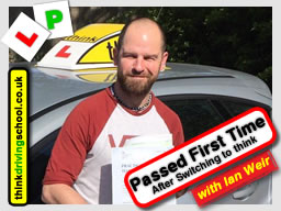 Gray passed with driving instructor ian weir and lef this awesome review of think driving school