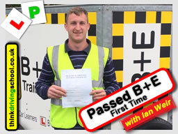 Stuartl Passed B+E  with driving instructor ian weir from Alton