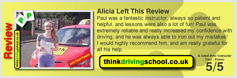 Great Review of Watford Driving Instructor Paul Power ADI, Paul Gives Driving Lessons in Watford