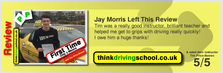 Jay Morris left this awesome review of tim price-bowen at think driving school