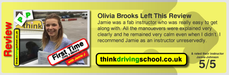 kayleigh wheeler left this awesome review of think drivng school