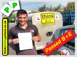 Passed with think driving school in March 2015 B+E Trailer lessons