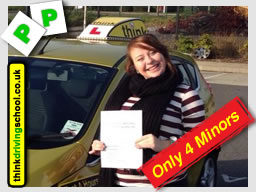 Mel from Alton passed with drivnig instructor from alton ian weir ADI