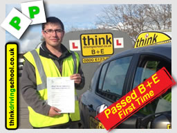 Passed with think driving school in august 2014 B+E Trailer lessons