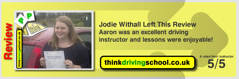 great review of Aaron Gee Kirkintilloch Drivng instructor
