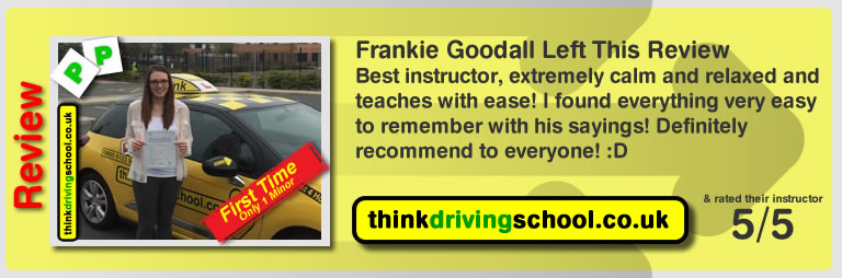 Donna Simmonds left this awesome review of tim price-bowen at think driving school