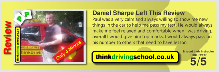 Daniel Sharpe from Watford driving lessons Watford  think driving school