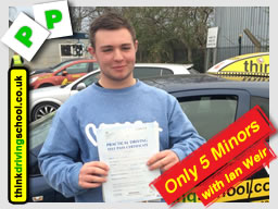 Passed with think driving school in February 2015