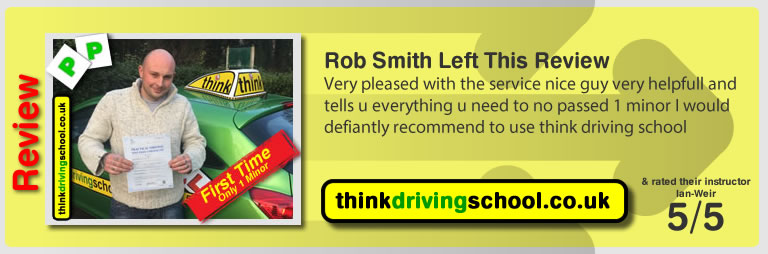 Rob Smith passed with driving instructor ian weir and lef this awesome review of think driving school