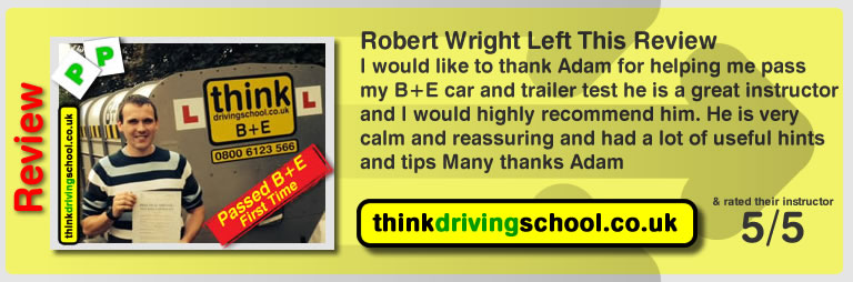 Driving instructors high wycombe Rob passed and left this review