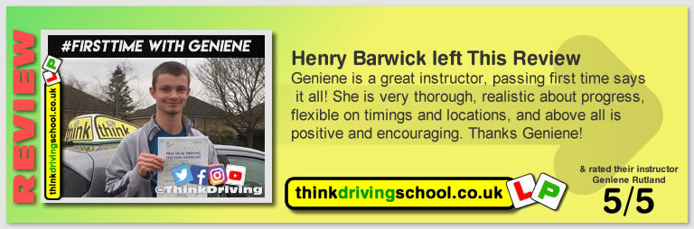 Passed with think driving school in January 2019 and left this 5 star review