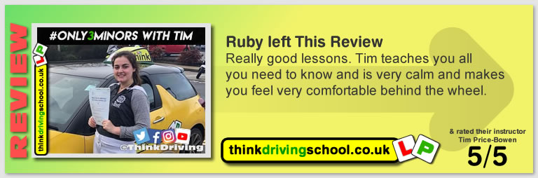 Passed with think driving school in February 2019 and left this 5 star review