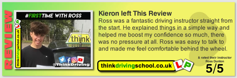 Passed there driving test with Ross Dunton from Woking and Left this awseome 5 star review