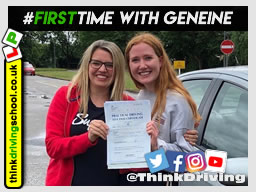 left this review: Geniene was a great instructor, really calm and patient and helped me to pass first time. Thank you! .