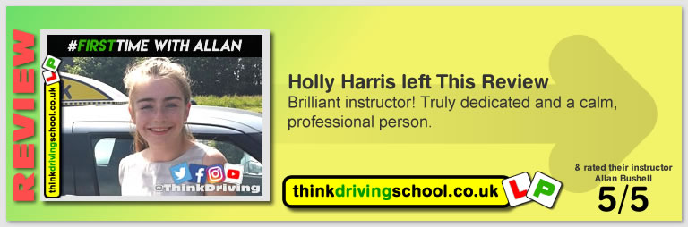 Harry Parsonage Wrote this awesome review of allan bushell driving instructor from Sandhurst & Camberley