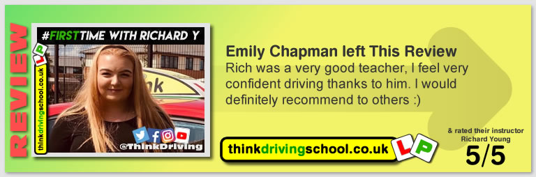 Monika passed with richard young from Farnham driving school in July 2019