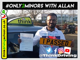 Passed with think driving school in February 2020 and left this 5 star review