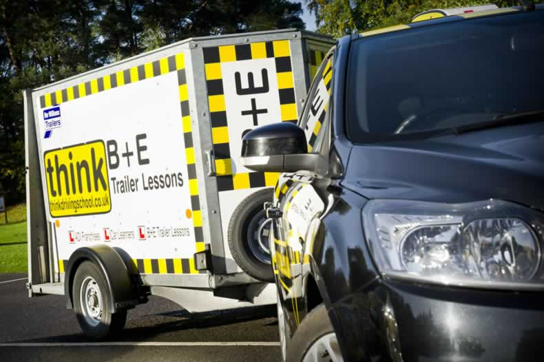 B+E lessons trailer lessons towing lessons Adam Iliffe Revesing trailers