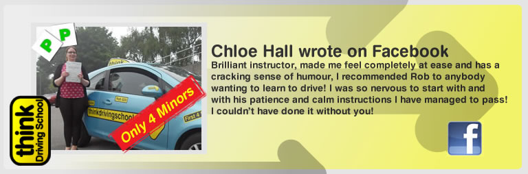 chloe hall left this awesome review of think drivng school and robert evamy adi