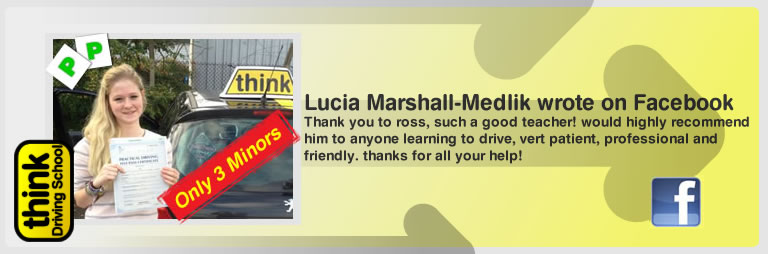 Lucia marshall-medlik left this awesome review of think driving school's ross dunton adi
