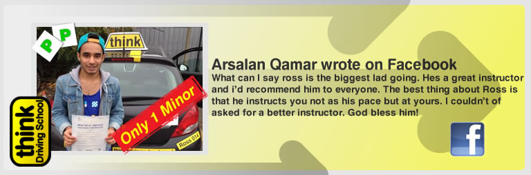 arsalan qamar left this awesome review of think driving school's ross dunton adi