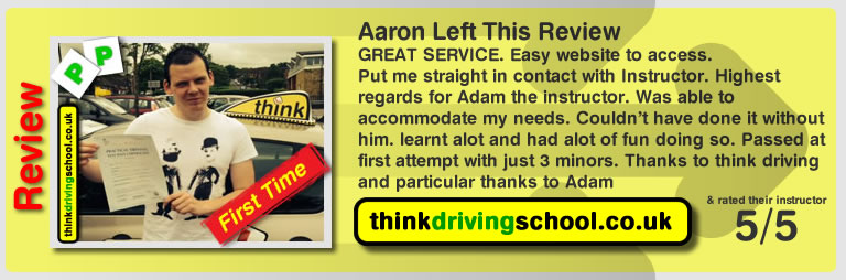 Driving instructors high wycombe aaron passed and left this review