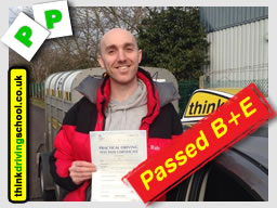 passed B+E with adam iliffe from high wycombe driving school