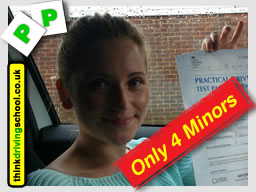 passed with think driving school trailer lessons