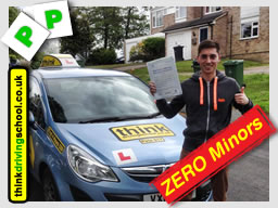 Matt from Alton passed with think driving school with ZERO minors